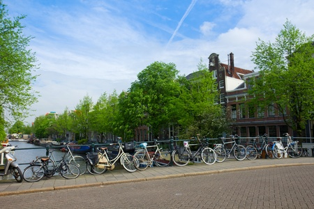old houses on canal in Amsterdam, Netherlands Stock Photo - 15995170