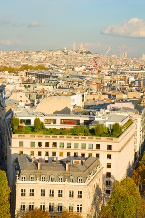 overview of Paris  with Mont Matre, France photo