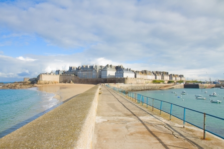 old town 'Intramuros' of  Saint Malo, Brittany, France photo