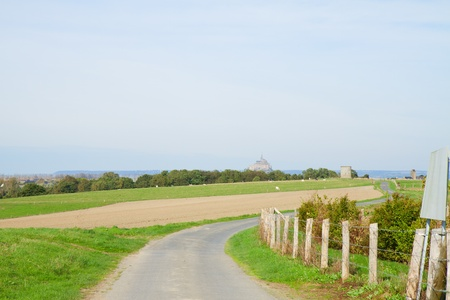 vicinity of Mont Saint Michel monastery in Base Normandy in France photo