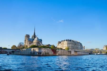cite: island Isle de la Cite and Seine river, Paris, France