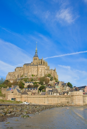 michel: Mont Saint Michel, second most visited place in France, vertical shot
