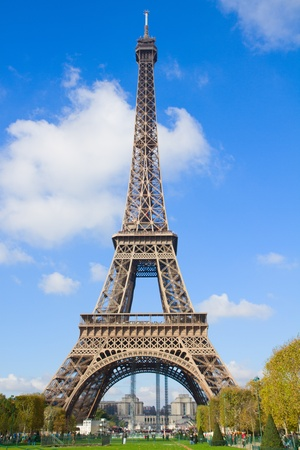 eiffelTower in sunny day in Paris,  France photo