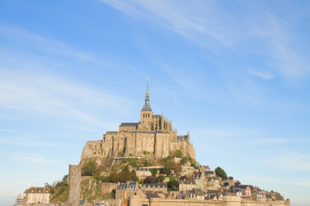 close up of Mont Saint Michel,  France photo