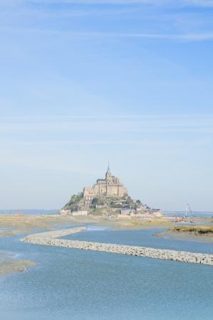 mont saint michel: Mont Saint Michel over sea , Nirmandy, France  Stock Photo