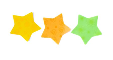 star paper stickers isolated on white background Stock Photo - 16641486