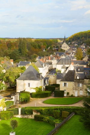 usse: old town of Usse, Pays de la Loire, France Stock Photo