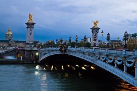 alexandre: Alexandre III Bridge at dawn,  Paris, France
