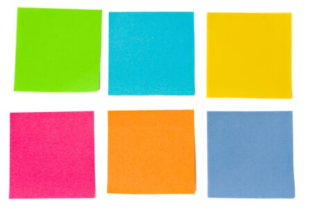 colorful sheets of paper isolated on white background Stock Photo - 16756734