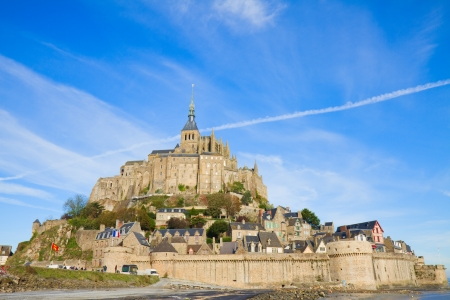 michel: olt city of Mont Saint Michel,  France