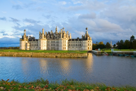 Chambord chateau at sunset, Pays-de-la-Loire, France