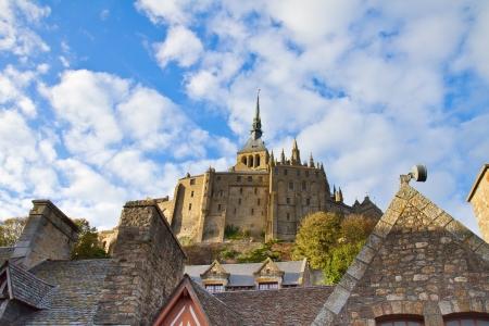 mont saint michel: Abbey of Mont Saint Michel,  Normandy, France