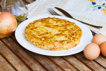 served tortilla  - spanish omelette