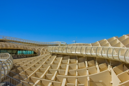 polyurethane: SEVILLA,SPAIN -JUNE 15: Metropol Parasol in Plaza de la Encarnacion on September 14, 2011 in Sevilla,Spain. J. Mayer H. architects, it is made from bonded timber with a polyurethane coating.