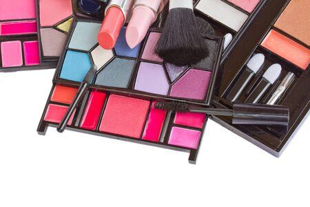 Make up decorative cosmetics  isolated on white background Stock Photo - 17816599