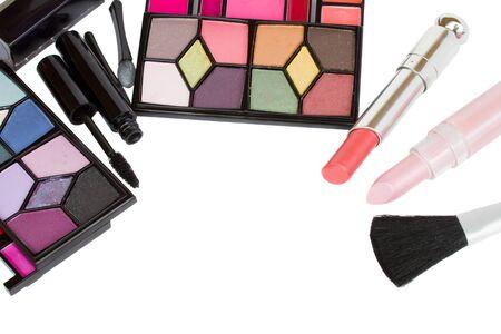 Decorative cosmetics frame isolated on white background Stock Photo - 17952109