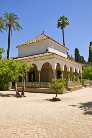 carlos: Pabellon of  Carlos V of the Alcazar in Sevilla, Spain Stock Photo