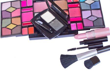 Make up cosmetics set isolated on white background Stock Photo - 18116370