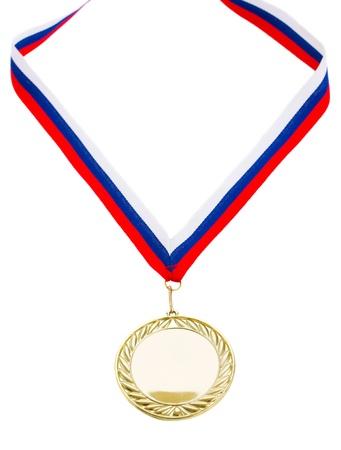 golde: one golde medal isolated on white background