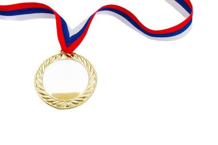 golde: one golde  medal close up  isolated on white background Stock Photo