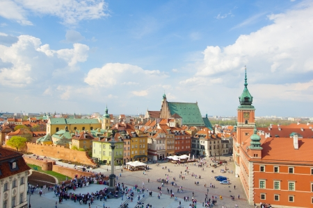 Old town square (plac Zamkowy), Warsaw, Poland photo