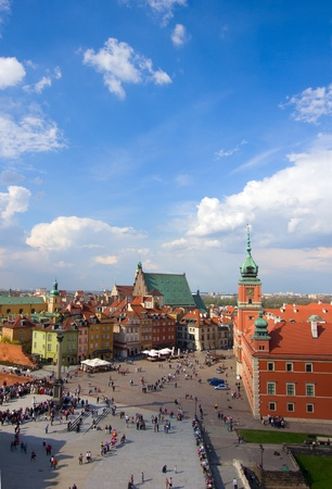 Old town  square from above, Warsaw, Poland photo