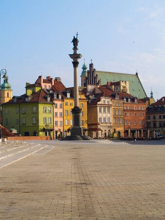 Old town square, Warsaw, Poland photo