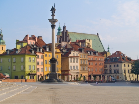 at town square: Old town square, Warsaw, Poland Stock Photo