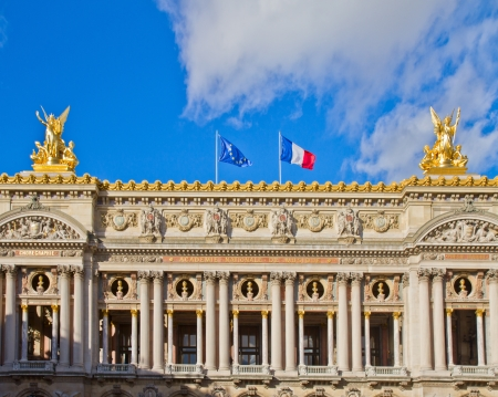 Facade Palais Garnier  - opera house of Paris, France photo