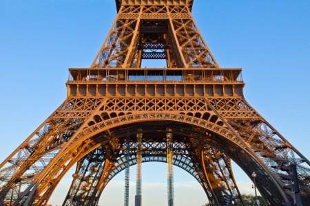 detail of eiffel tower pillars, Paris,  France photo