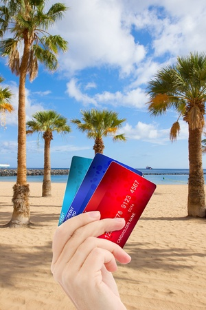 credit cards money  for  holiday vacations concept Stock Photo - 18929229