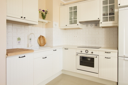 white empty rustic kitchen in antique  style Stock Photo - 19080785