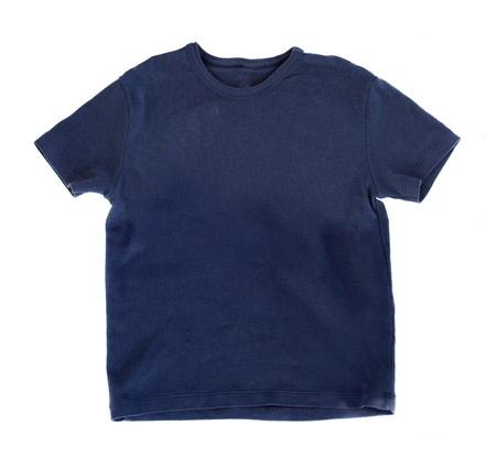 dark blue t-shirt isolated on white bakcgound Stock Photo - 19138936