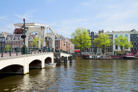 Magere bridge of  Amsterdam on Amstel river, Netherlands Stock Photo - 19667760