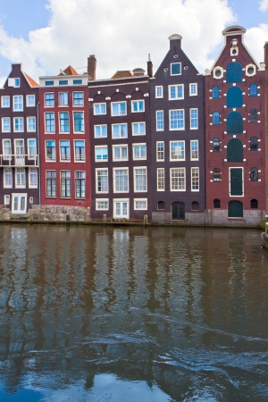 medieval houses over water in Amsterdam, Netherlands Stock Photo - 19667770