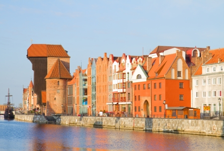 Old town waterfront, Gdansk ,  Poland photo