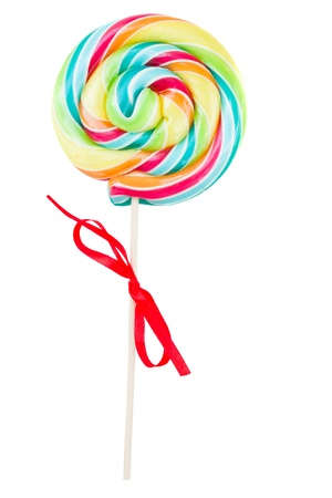 lolly pop: spiral lolly pop candy isolated on white background