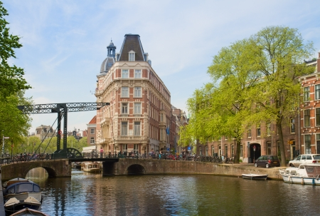 old town on canal ring, Amsterdam, Netherlands Stock Photo - 20104894