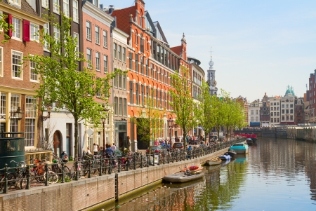 Singel canal of Amsterdam, Netherlands Stock Photo - 20102355