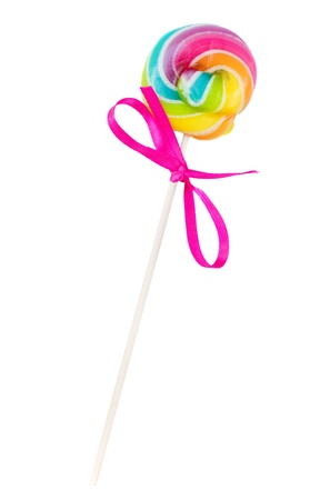 lolly pop: small spiral lolly pop candy isolated on white background