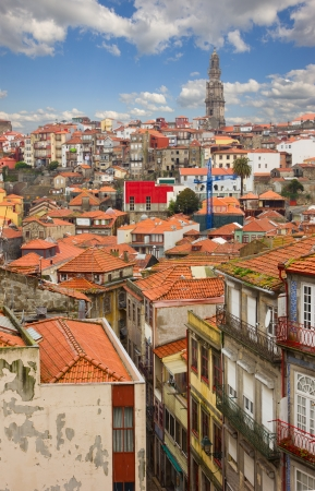 red tiled roofs of old town, Porto, Portugal photo