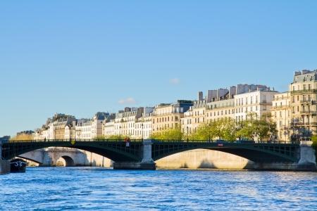 sully: Seine river  and Pont de Sully, Paris, France