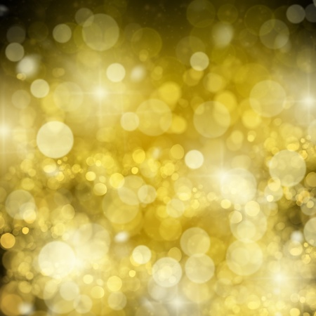 chrismas background with golden beams and sparkles photo