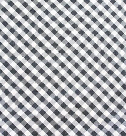 Lovely Black And White Checkered Fabric, Tablecloth Texture Photo