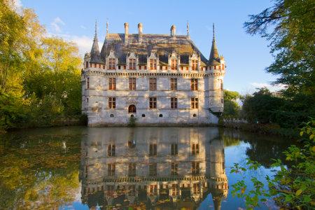 chambord: Azay-le-Rideau castle  in the Loire Valley, France