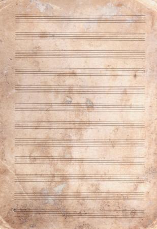 musica clasica: fondo de papel de nota manchada de edad con textura