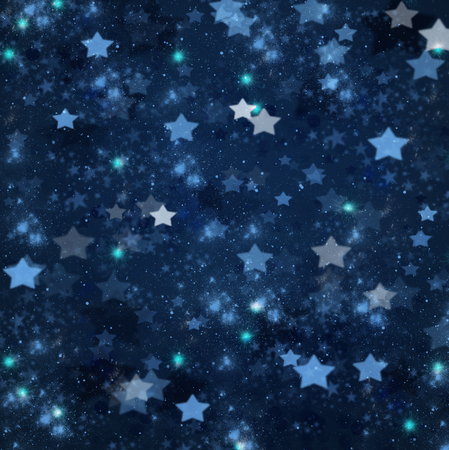 stary: blue christmas  and new years stars  on blue  background Stock Photo