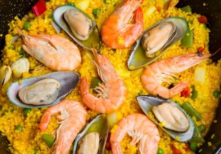 marisco: Paella -traditional spanish rice dish