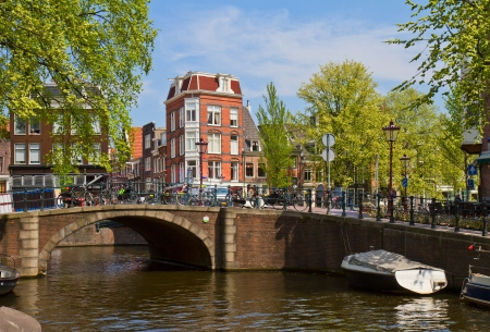 view  of canal ring in Amsterdam, Netherland
