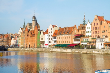 Old town waterfront  in  Gdansk ,  Poland photo